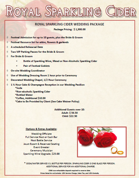 Royal Sparkling Cider Package Snapshot